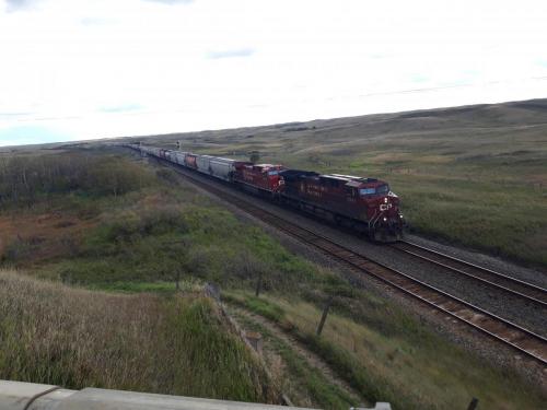 Flere kilometer lange tog